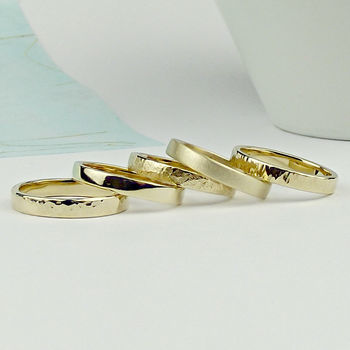 Solid 9ct Gold Wedding Ring - Strata texture - product images  of
