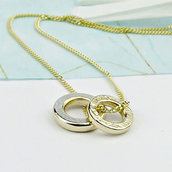 Solid 18ct Gold Necklace - Threads texture - product images  of