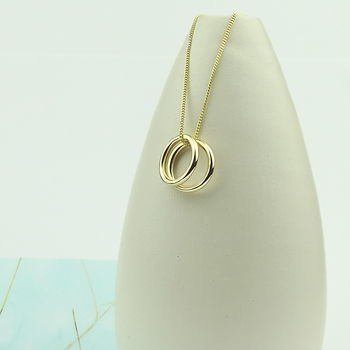 Simple Circle Of Life 9ct Gold Necklace - product images  of