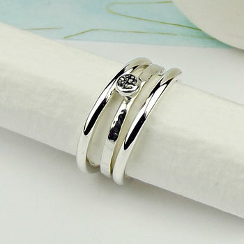 Sterling Silver Rock Ring - product images  of
