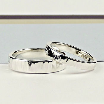 Sterling Silver Wedding Ring - Ripple Texture - product images  of