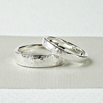 Sterling Silver Wedding Ring - Terra Texture - product images  of