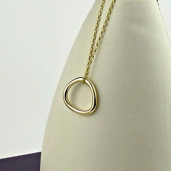 Solid 9ct Gold Trillion Necklace - product images  of