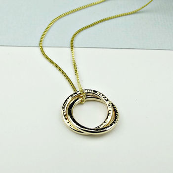 Solid Gold Interlinked Circle Of Life Necklace - product images  of