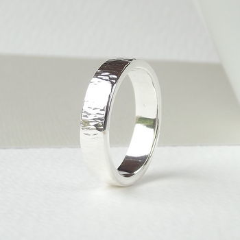 Strata Textured Sterling Silver Wedding Ring - product images  of