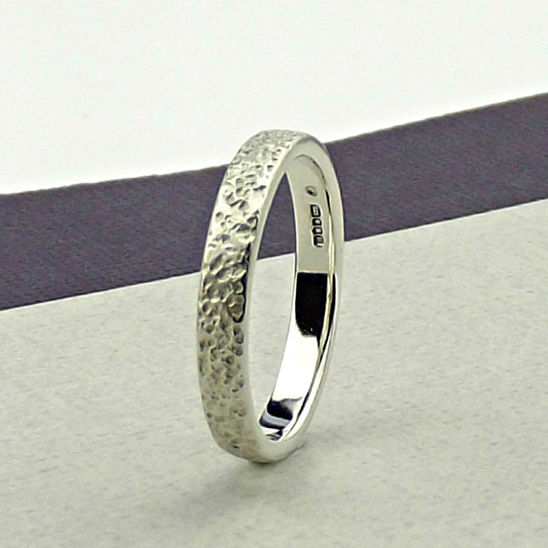 Sterling Silver Wedding Ring - Granite Texture - product images  of