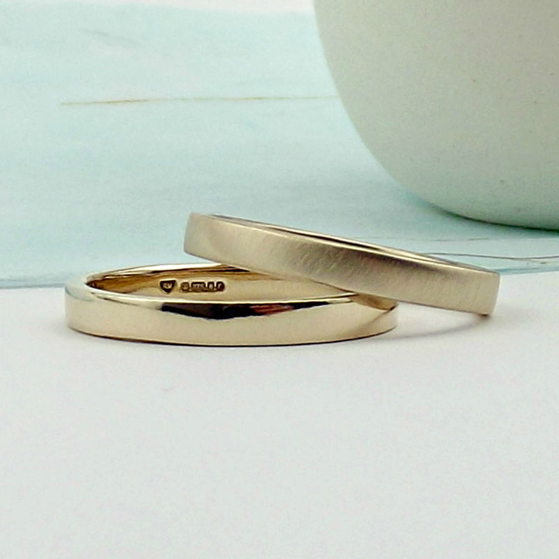 9ct Rose Gold Wedding Ring - Polished or Matte Finish - product images  of