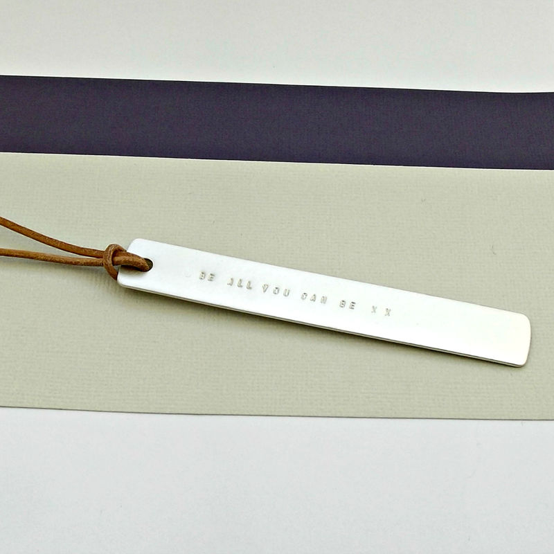 Sterling Silver Personalised Bookmark - Matte Finish - product images  of