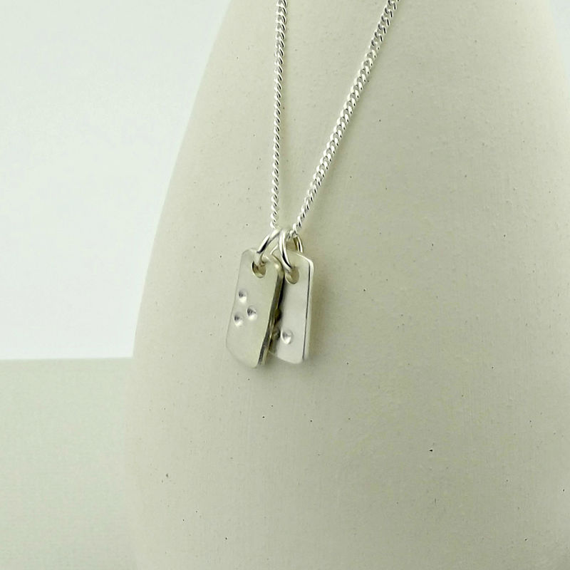 Sterling Silver Tag Necklace - Hidden in Plain Sight - product images  of