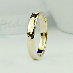 Solid 9ct Gold Wedding Ring - Forged Finish - product images  of