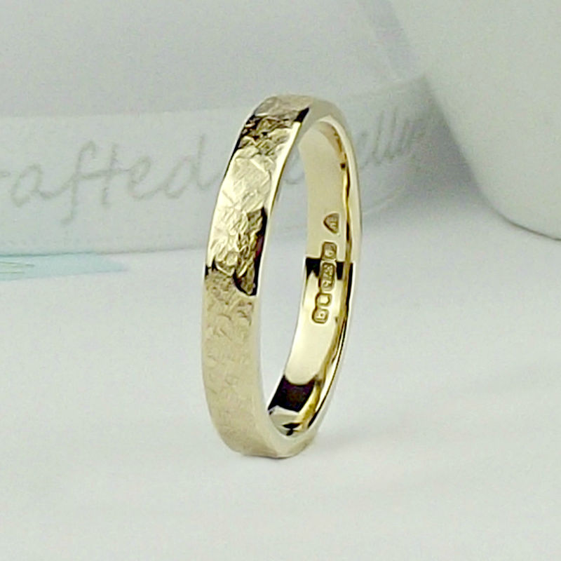 Solid 9ct Gold Wedding Ring - Terra Finish - product images  of