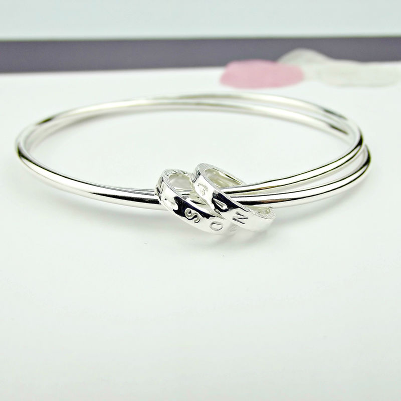 Secret Silver Personalised Silver Bangle - product images  of