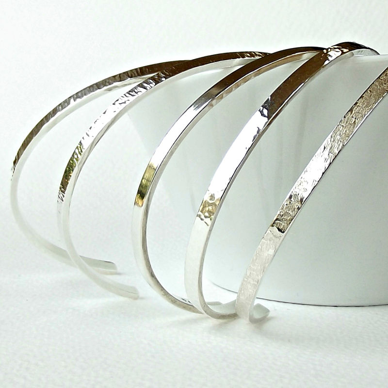 Slim Sterling Silver Cuff Bracelet - product images  of