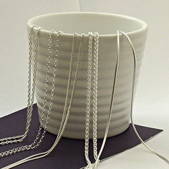 Sterling,Silver,Chains,sterling silver chain, silver chain, silver necklace, silversynergy, silver synergy