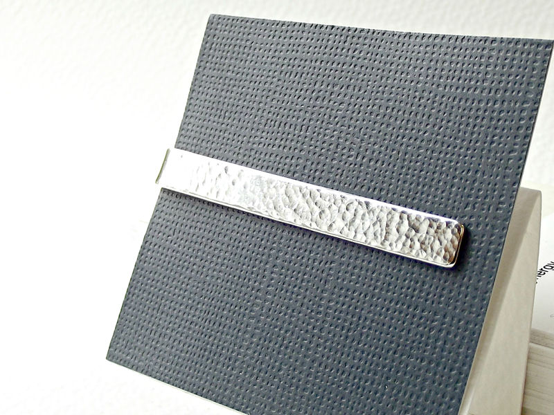 Secret Silver Tie Slide - Personalised - product images  of