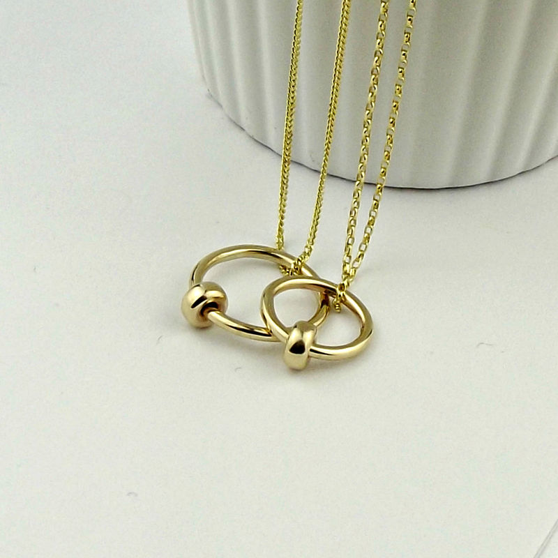 9ct Gold Satellite Necklace - product images  of