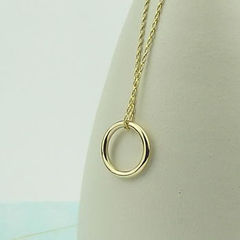 Simple 9ct Gold Circle of Life Necklace - product images  of