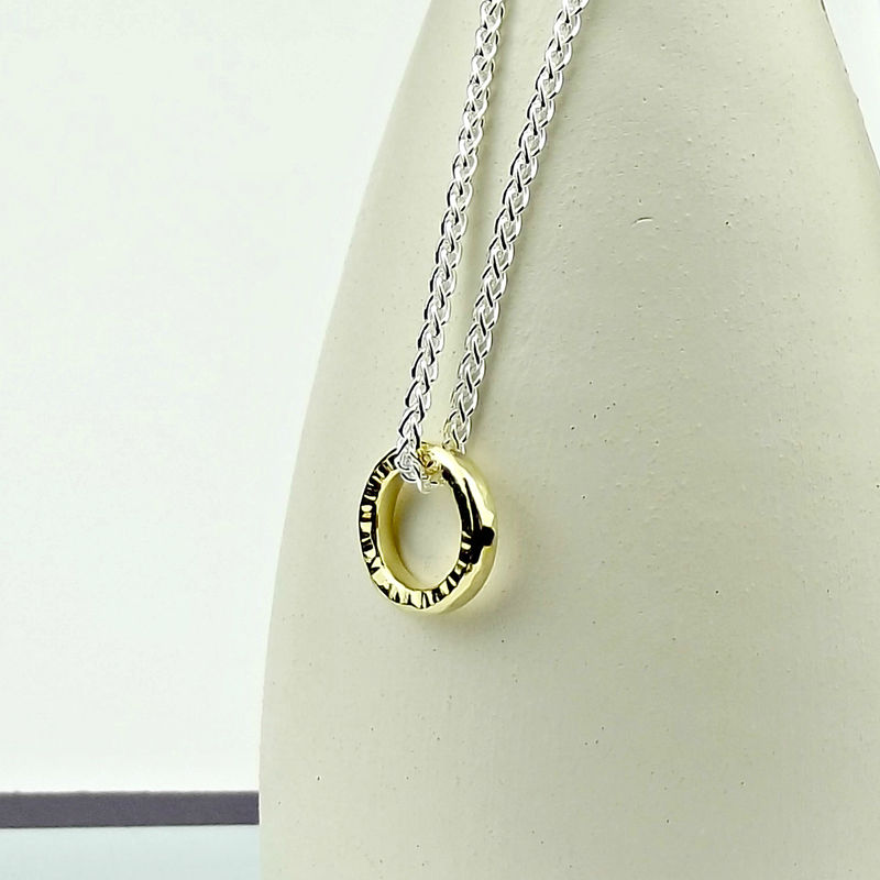 Gold Ripple Necklace Element - product images  of