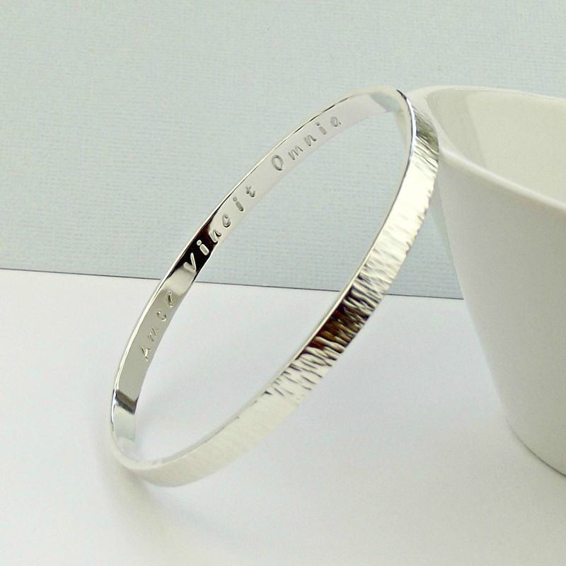Secret Message Silver Bangle - product images  of
