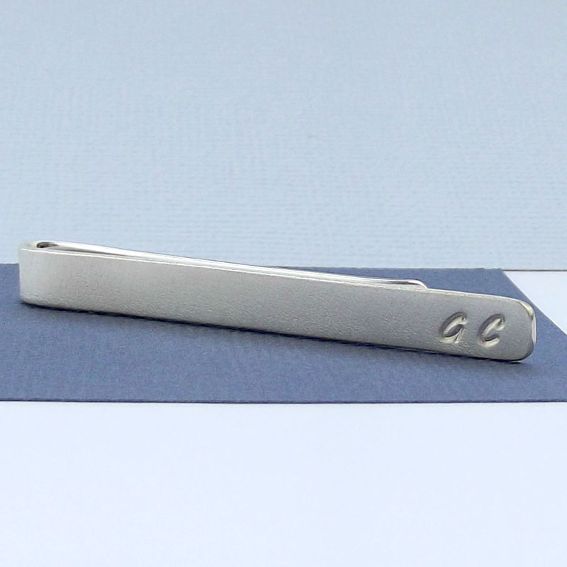 Sterling Silver Tie Slide - Initials - product images  of