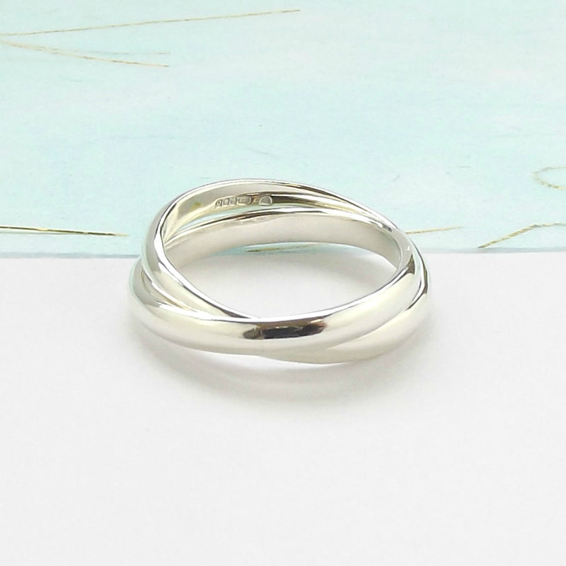 Sterling Silver Interlinked Ring - product images  of