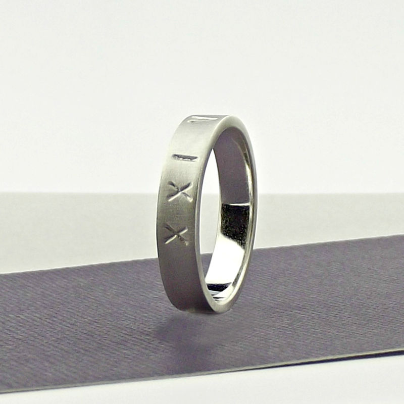 Sterling Silver Roman Numerals Ring - product images  of