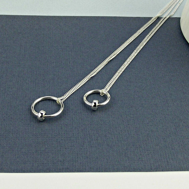 Sterling Silver Satellite Necklace - product images  of