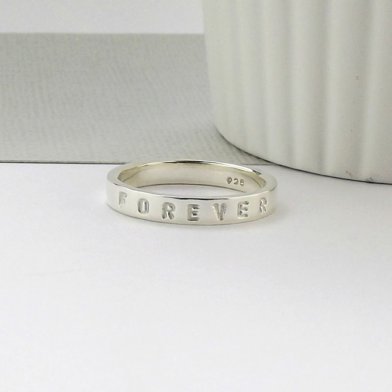 Sterling Silver Message Ring - product images  of