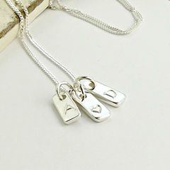 Silver,Tag,Necklace,silver tag necklace, tag necklace, star necklace, initial necklace, mum gift, gift for her, mothers day gift, mothers day present, new mum gift, new baby gift, silversynergy