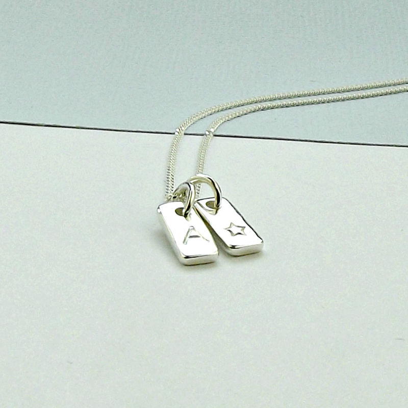 Silver Tag Necklace - product images  of