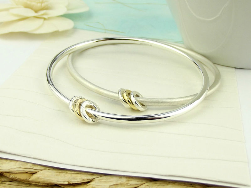 Silver and Gold Spinner Bangle - product images  of