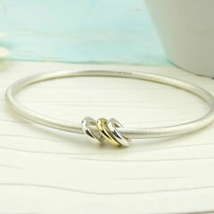 Silver,And,Gold,Spinner,Bangle,silver bangle, gold, bangle
