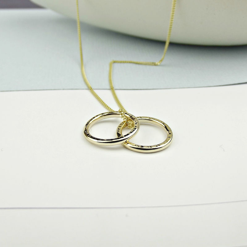Solid 18ct Gold Circle Necklace - product images  of