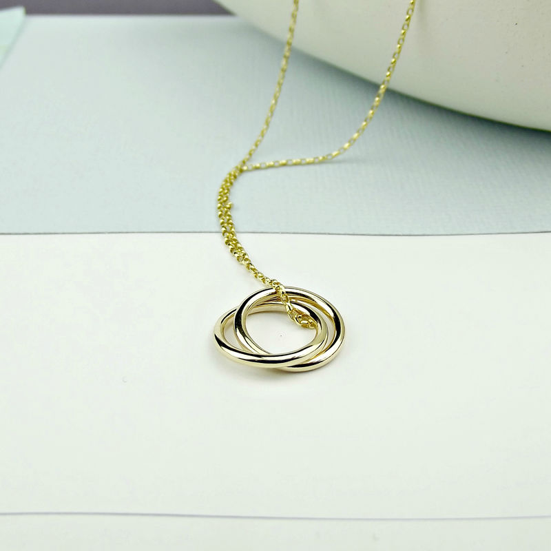 Solid 18ct Gold Eternity Necklace - product images  of