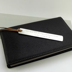 Personalised Sterling Silver Bookmark  - product images  of