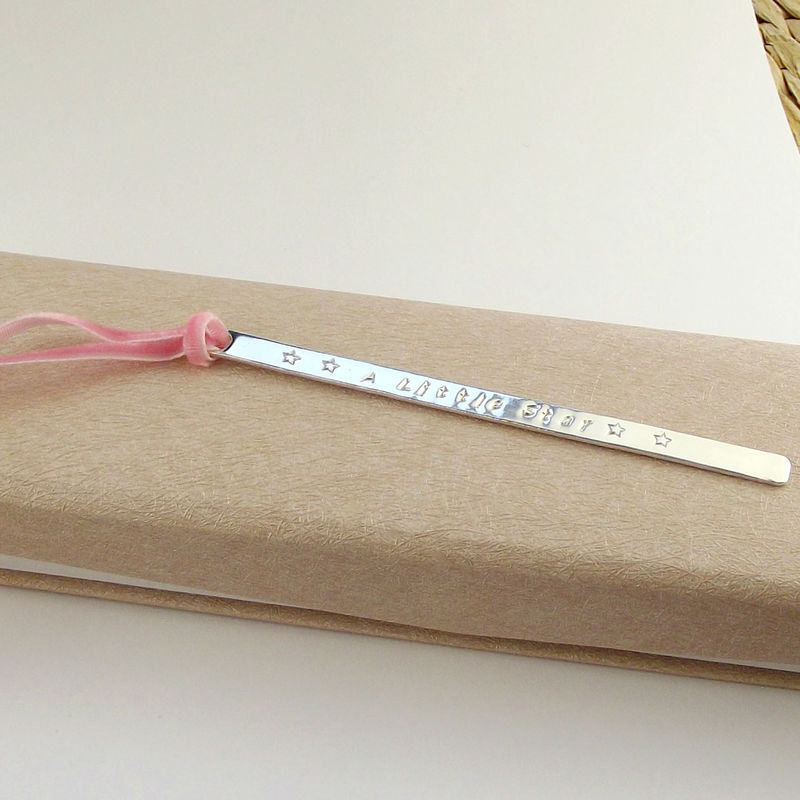 Personalised Sterling Silver Bookmark - Slim - product images  of