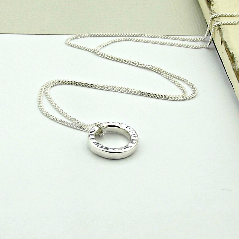 Sterling Silver Ripple Necklace - product images  of