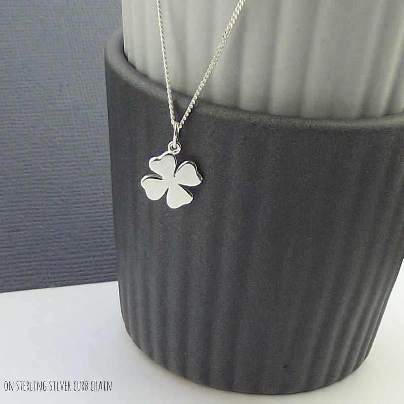 Sterling Silver Lucky Charm Necklace - Solid - product images  of