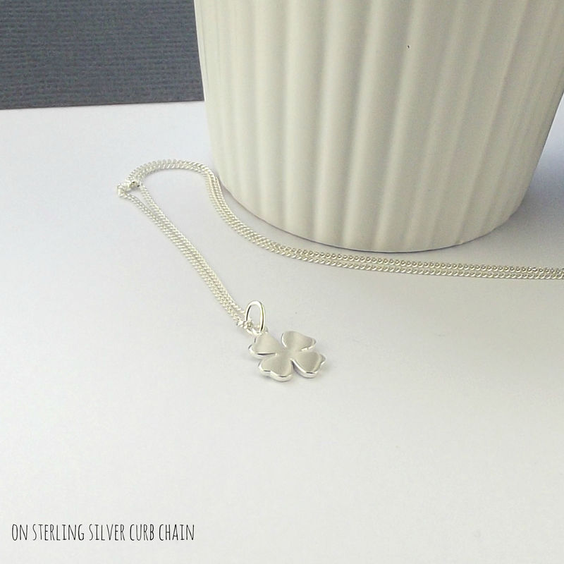 Sterling Silver Lucky Charm Necklace - Open - product images  of