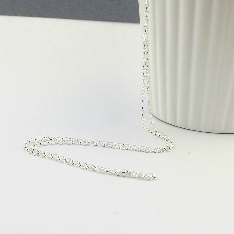 Sterling Silver Diamond Cut Belcher Chain/Rolo Chain - product images  of