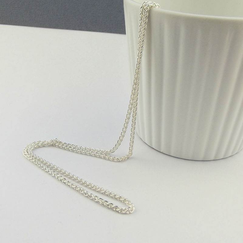 Sterling Silver Spiga Necklace Chain - product images  of