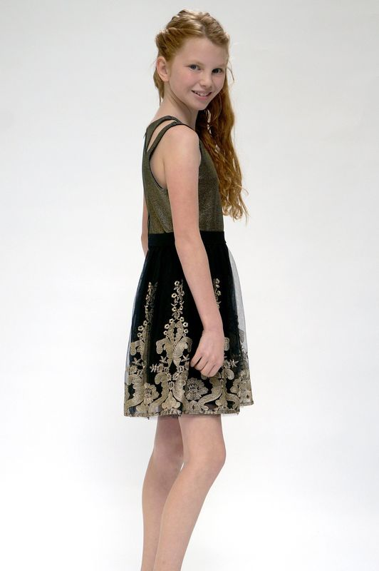 60% OFF Hannah Banana Black Label Gold Embrodery Tank Dress  - product images  of