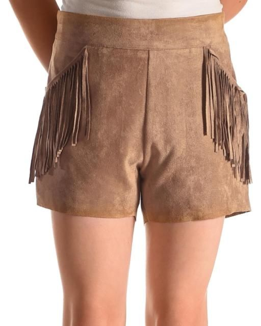 60% OFF Idol Mind Girls' Faux Suede Fringed Shorts  - product images  of
