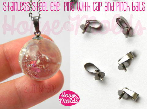 Stainless,Steel,Tiny,Eyepins,with,Caps,and,Pinch,Bails,-5x13,mm-perfect,for,create,your,pendants,!,Jewelry,Necklace,findings,bead_supplies,resin_crafters,stainless_steel,resin_chain,pendant_necklace,eyepin,beadcap,sphere_setting,steel_eyepin,eyepin_with_peg,sphere_eyepin,PENDANT_BAIL,nickel free,stainless steel