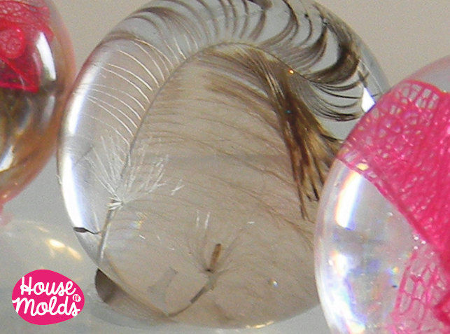 Clear Mold for BIG Sphere 8 cm diameter ,Mold for resin Ball - product images  of