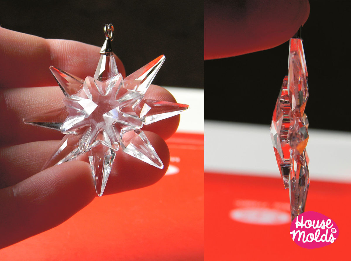 ... Crystal Snowflake silicone mold,mold for Christmas/ wedding decorations-house of molds shiny ...