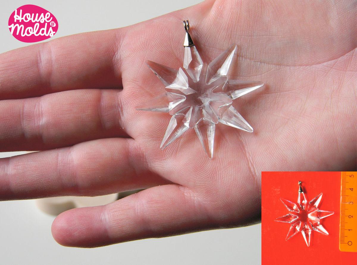 Crystal Snowflake silicone mold,mold for Christmas/ wedding ...