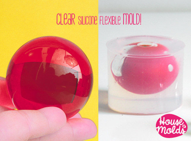 Clear Mold for Sphere 5 cm diameter ,Mold for resin Ball,House Of Molds Super Clear Mold,shiny creations - product images  of
