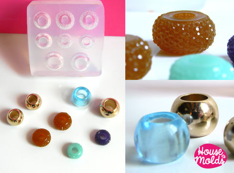 Set,of,8,Drilled,Bead,Clear,Mold,,Mold,to,make,European,style,beads-smooth,drilled,beads,and,sparkling,Supplies,silicone_mold,jewelry_making,resin_supplies,mold_for_pendant,clear_mold,mold_for_earrings,mold_for_resin,mold_for_necklace,resin_mold,pandora_beads,faceted_bead,european_bead_mold,drilled_bead_mold,clear silicone rubber,Love