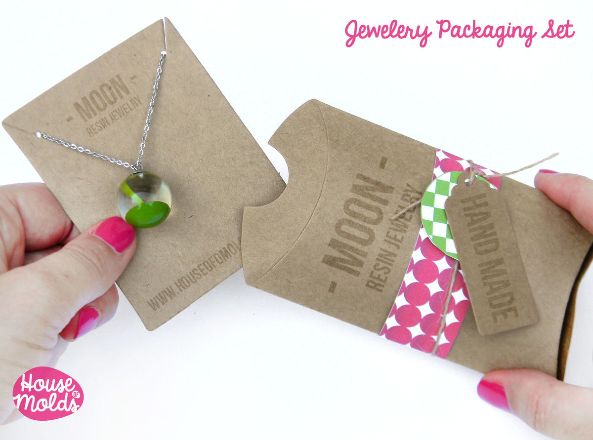Kraft Paper Simple Blank Jewelry Packaging Set Pillow Bo Pendants Earrings Display Card And Tags